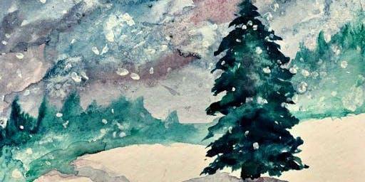 Paint Wine Denver Watercolor Workshop Sat Dec 7th 11am $25