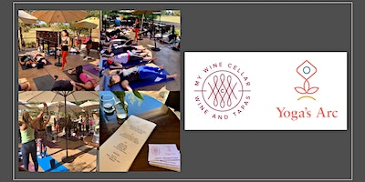 Outdoor patio yoga with Yoga's Arc and My Wine Cellar