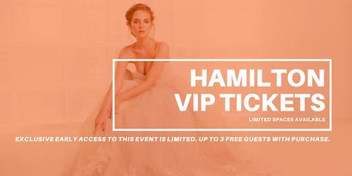 Opportunity Bridal VIP Early Access Hamilton Pop Up Wedding Dress Sale