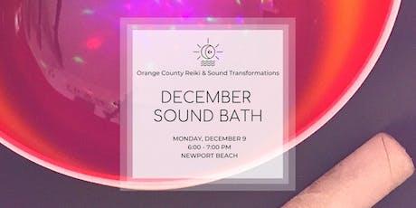 December Sound Bath tickets