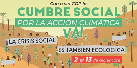 Cumbre Social por la Acción Climática entradas
