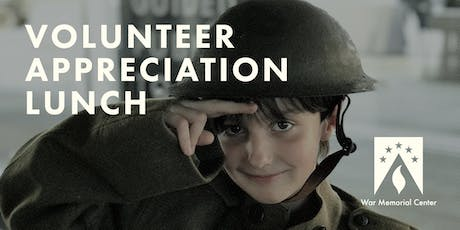 War Memorial Center Volunteer Appreciation Lunch tickets