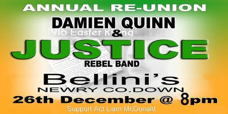 DAMIEN QUINN & THE JUSTICE REBEL BAND tickets