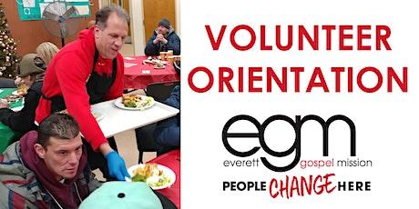 Volunteer Orientation- Everett Gospel Mission tickets