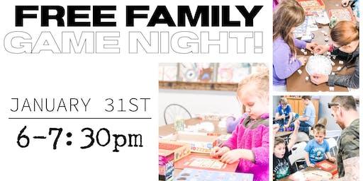 Free Family Game Night!
