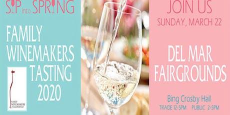 Family Winemakers - 2020 Del Mar Volunteer Registration tickets