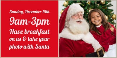 Free breakfast/ lunch on us & photo with Santa