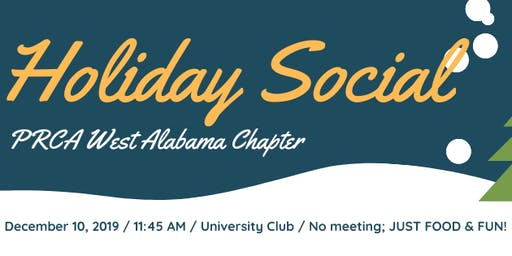 PRCA West Alabama HOLIDAY SOCIAL 2019