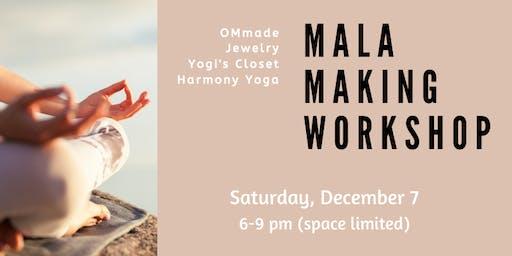 Mala Making Workshop at Harmony Yoga Studios