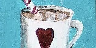 Kids' Paint! Hot Cocoa w/Candy Cane Paintings
