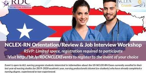 Review, Orientation & Job Interview Workshop - NCLEX Review, Orientation & Job Interview Workshop - UPR - Arecibo