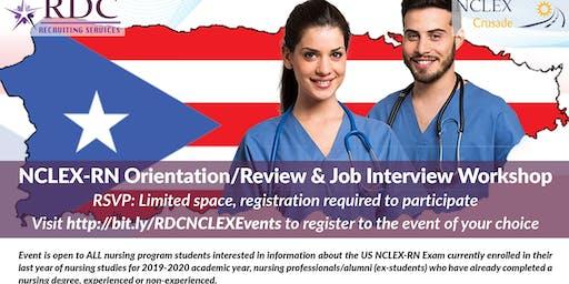 NCLEX Review, Orientation & Job Interview Workshop - Antillean Adventist University - Mayagüez