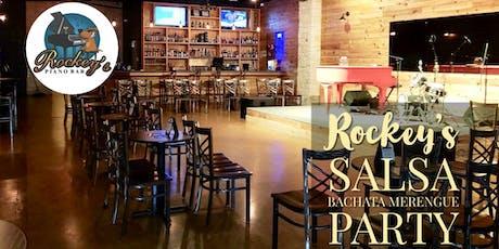 Free Salsa & Bachata Sunday Tropical Social @ Rockey's Piano Bar 12/15 tickets