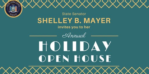 Sen. Shelley Mayer's HOLIDAY OPEN HOUSE