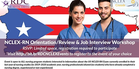 NCLEX Review, Orientation & Job Interview Workshop - University of Puerto Rico, Medical Sciences Campus tickets