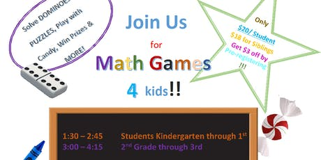 Hartfelt Tutoring's KinderKlatsch - Math Games 4 Kids! - K-1st Grade tickets