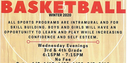 3rd & 4th grade Basketball Sport Intramural and Skill Building