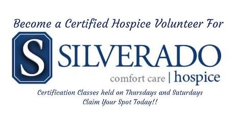 Become a Certified Silverado Hospice Volunteer tickets