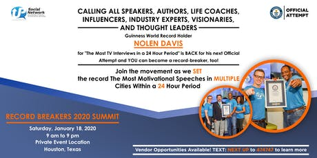 #RecordBreakers 2020 Summit & Guinness World Record Attempt  tickets