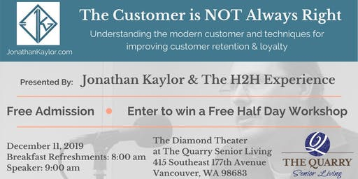 The Customer is NOT Always Right presented by Jonathan Kaylor