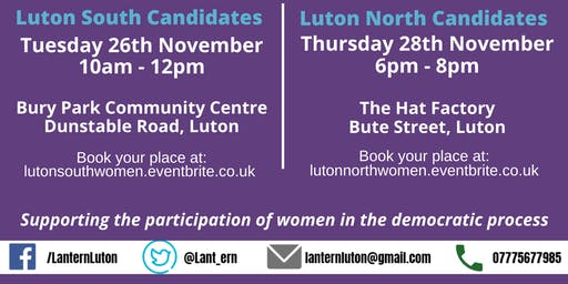 Election 2019 - Luton South Hustings for Women