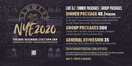 New Year's Eve 2020 at Cheeky Monkey Brewing Co.  tickets