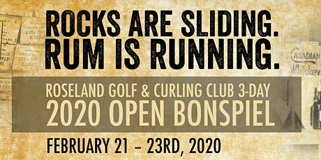 2020 Roseland Rum Runner 3-day OPEN Curling Bonspiel tickets