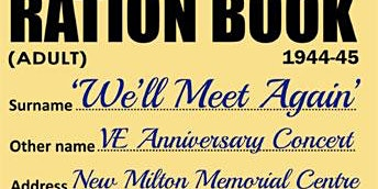 'We'll Meet Again' - VE75 Commemorative Concert