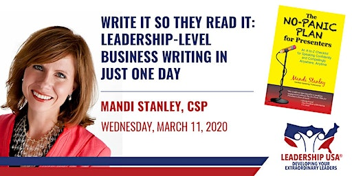 Write It So They Read It: Leadership-Level Business Writing in Just One Day with Mandi Stanley