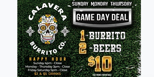 Game Day at Calavera Burrito Co.
