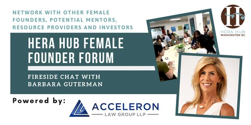 Hera Hub Female Founder Forum || Fireside Chat with Barbara Guterman