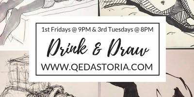 Astoria Drink n Draw with a Live Model