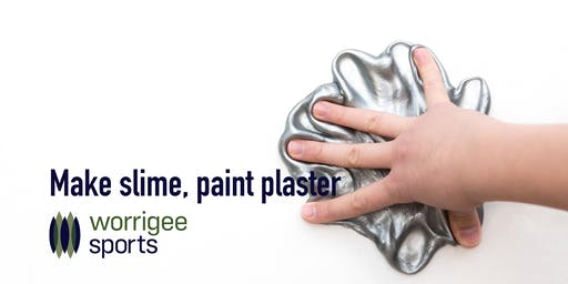 Make slime and paint plaster