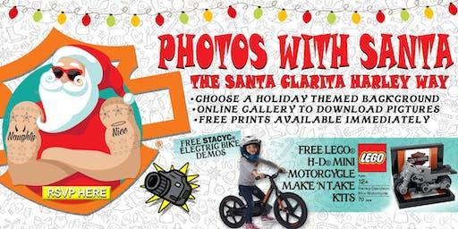 Photos With Santa : The Santa Clarita Harley Way