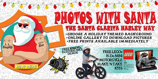 Photos With Santa : The Santa Clarita Harley Way
