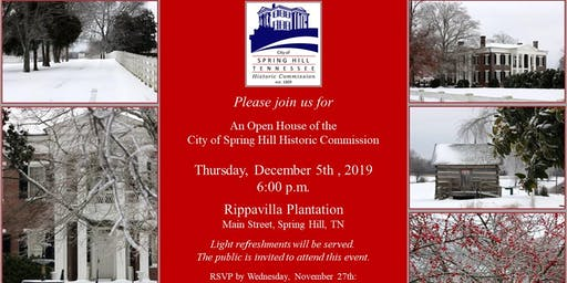 Spring Hill Historic Commission Annual Christmas Party