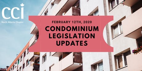 Condominium Legislation Update - Stencel Hall (CCI Seminar) tickets