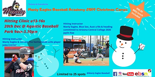 Manly Eagles Baseball Academy 2019 Christmas Camps - HITTING CLINIC