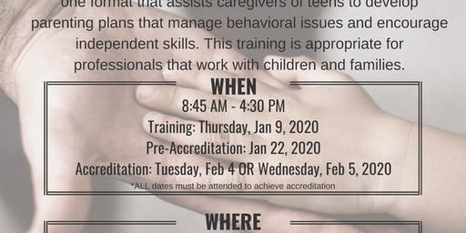 Triple P Primary Care Teen Facilitator Extension Training [January 9, 2020]