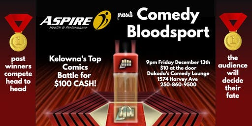 Aspire Health & Performance presents Comedy Bloodsport