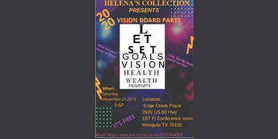 Helena's Collection PRESENTS 20/20 Vision Board party