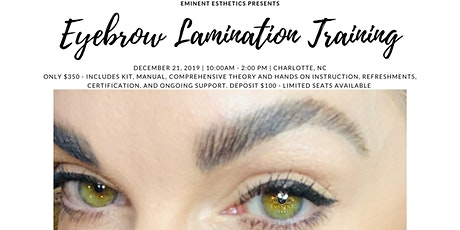 Brow Lamination Training and Certification tickets