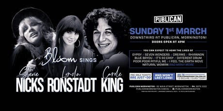 Bloom sings Stevie Nicks, Linda Ronstadt and Carole King LIVE at Publican! tickets