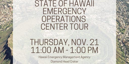 Hawaii Emergency Operations Tour (HI-EMA & DOD) - PRSA Members Only