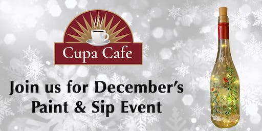 Cupa Cafe - Paint & Sip Winter/Holiday Edition