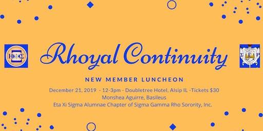 Presenting Rhoyal Continuity:  Fall 2019 New Member Presentation