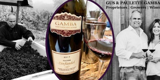 Special Tasting Event with CA Winemakers from Gamba Estate