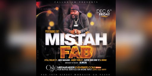 Mistah FAB live at Palladium Nightclub - Tickets available at the door.
