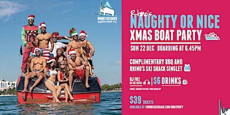 Rhino's Ski Shack - Christmas Boat Party! tickets