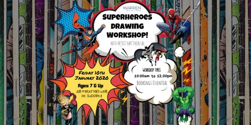 Superheroes Drawing Workshop with Matthew Lin - Session 1